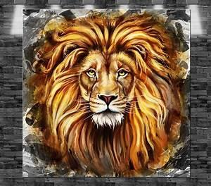 Bild 3 Teilig Auf Leinwand : xxl l we gem lde auf leinwand 80x80cm design bild loft tier afrika ebay ~ Markanthonyermac.com Haus und Dekorationen