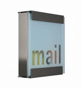 Briefkasten Edelstahl Design : design briefkasten edelstahl glas mail im greenbop online shop kaufen ~ Markanthonyermac.com Haus und Dekorationen