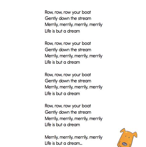 Row Your Boat Full Song by Classroom Classics Quot Row Row Row Your Boat Quot Lyric Sheet