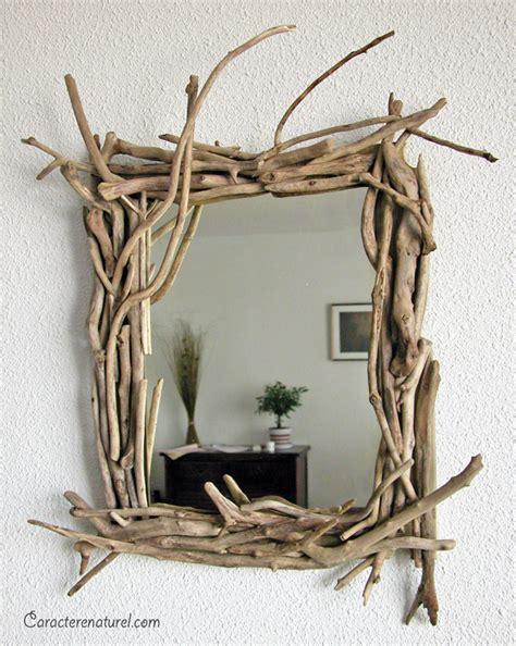 miroir en bois flott 233 et planches de r 233 cup 233 ration caract 232 re naturel par benoit