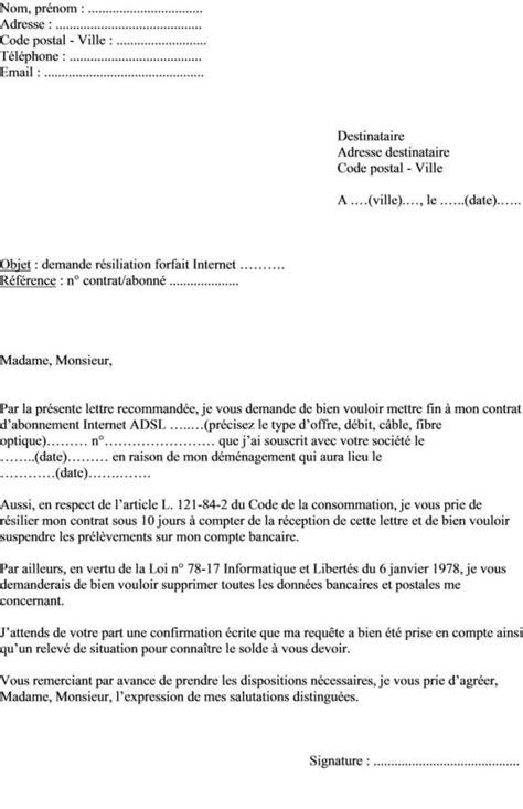 modele lettre preavis logement 1 mois rsa document
