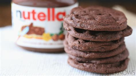 3 ingredient nutella cookies almost as easy as it right out of the jar