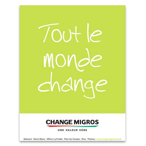 change migros sixty six communication design sa agence de communication cr 233 ation design