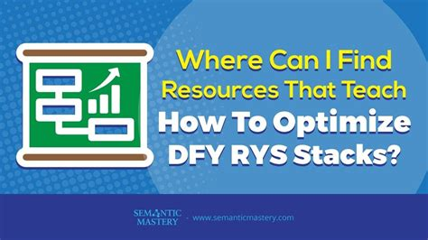 Where Can I Find Resources That Teach How To Optimize Dfy