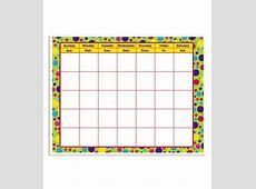Busy Kids Learning Large Classroom Chart Calendar Polka