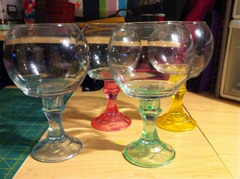 buffet glass globes and candle sticks from the