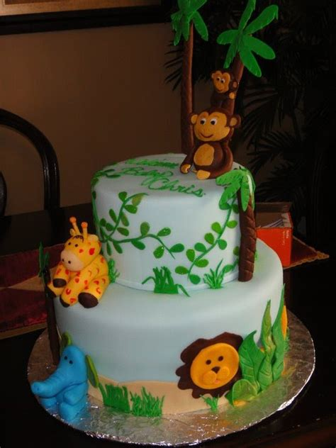 jungle theme cake the sweetest tiers jungle theme baby shower cake