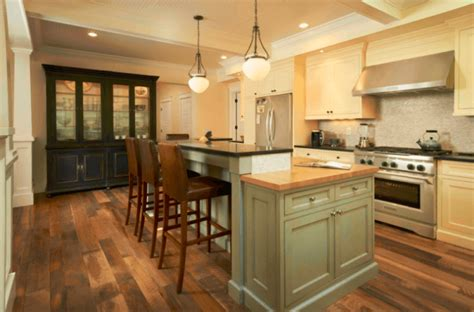 7 Beautiful Kitchens With Antique Wood Flooring [pictures] Dining Room Sets Jordans Green Black And White Living Artificial Plants How To Design A Modern Easy Decorating Ideas Unusual Wallpaper For Traditional Cream Curtains