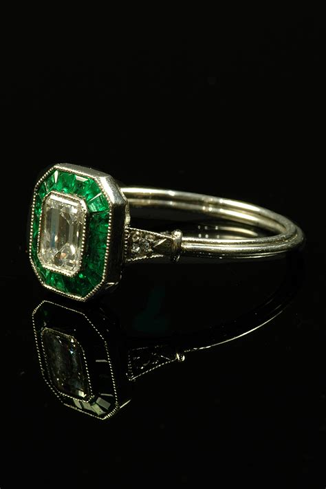 beautiful deco emerald and ring goodwins antiques