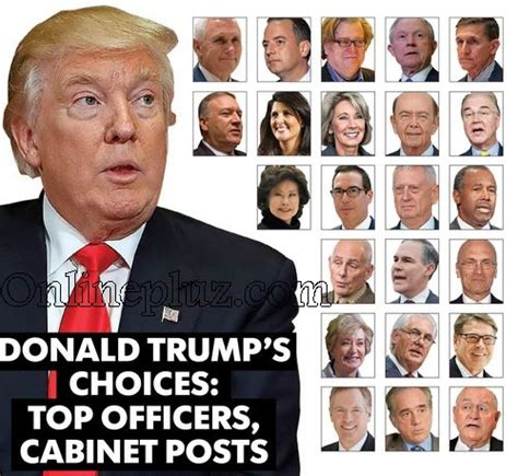 president donald s cabinet members list of donald s appointees