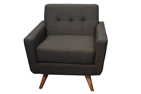 furniture iso mid century charcoal club chair