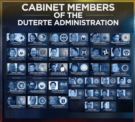 press entertainment portal the duterte cabinet all the president s