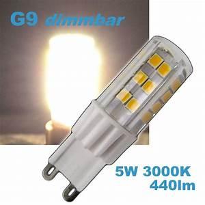 Leuchtmittel Led G9 : led g9 5w dimmbar 230v leuchtmittel 460lm warmwei spot strahler halogen ~ Markanthonyermac.com Haus und Dekorationen
