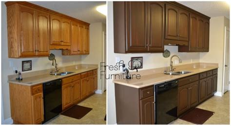 refinishing kitchen cabinets on black appliances