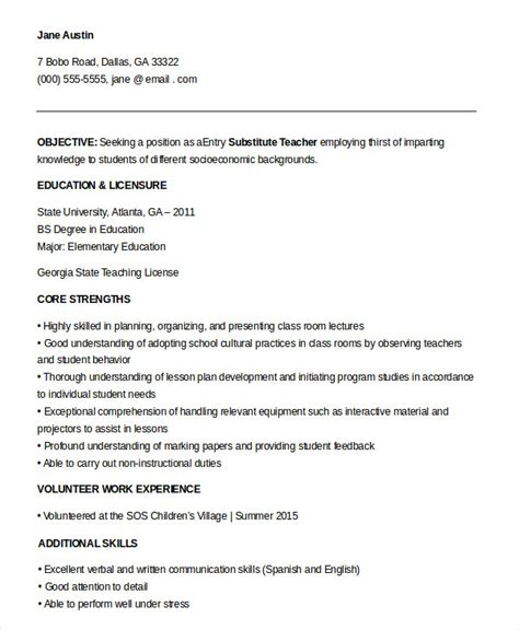 9+ Substitute Teacher Resume Templates  Pdf, Doc  Free. Free Resume Builder For Military. A Job Resume Sample. Hr Administrative Assistant Resume Sample. Team Leader Skills For Resume. Functional Resumes Templates. Job Resume Sample Format. Internal Resume Format. Top Online Resume Writing Services
