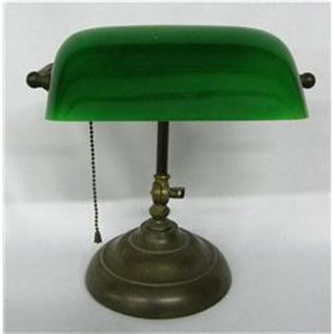 vintage green glass bankers l