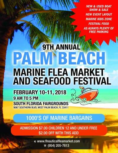 Palm Beach Boat Show Discount Tickets by Marine Flea Market Boat Sale And Seafood Festival