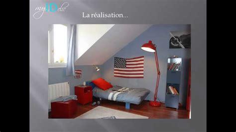 trendy idee peinture chambre garcon dco chambre ado garon drapeau usa with chambre ado