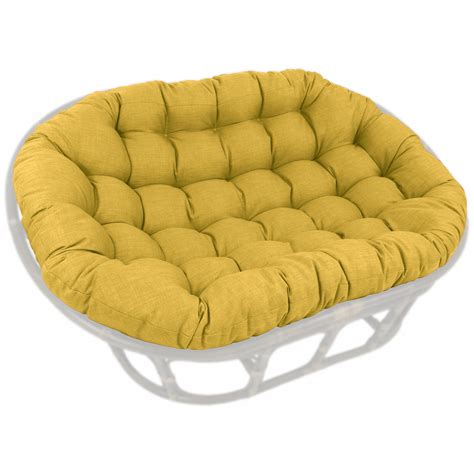 60 x 48 outdoor fabric tufted papasan cushion