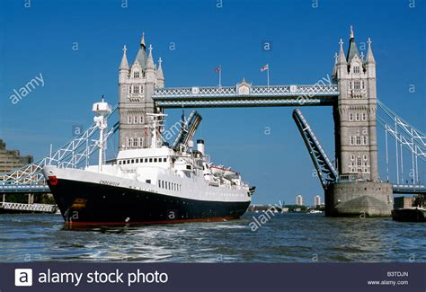 Boat Going Under Tower Bridge by England London Tower Bridge Cruise Ship Ms Endeavour