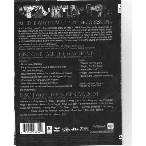 all the way home all the way home live in geneva 2004 by the corrs dvd x