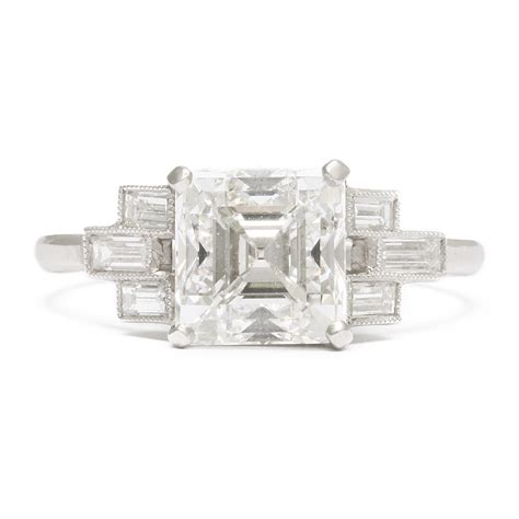 a la vieille russie deco asscher cut engagement ring faberge antique jewelry