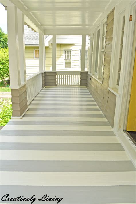 Paint Your Porch With Stripes!  Creatively Living Blog