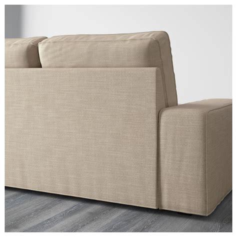 kivik two seat sofa and chaise longue hillared beige ikea