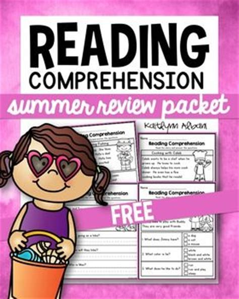 Free Reading Comprehension Passages  Summer Review  Writingreadingelaspelling Pinterest