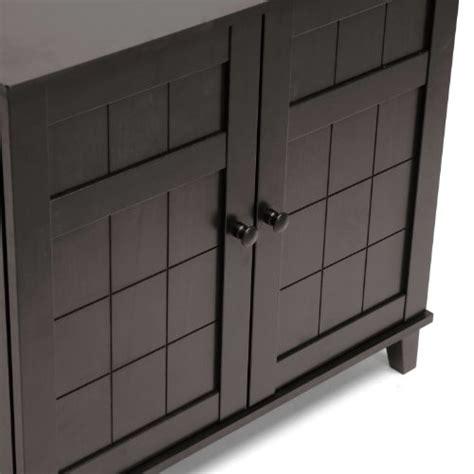 baxton studio glidden wood modern shoe cabinet