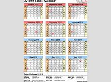 School calendars 20182019 as free printable Word templates