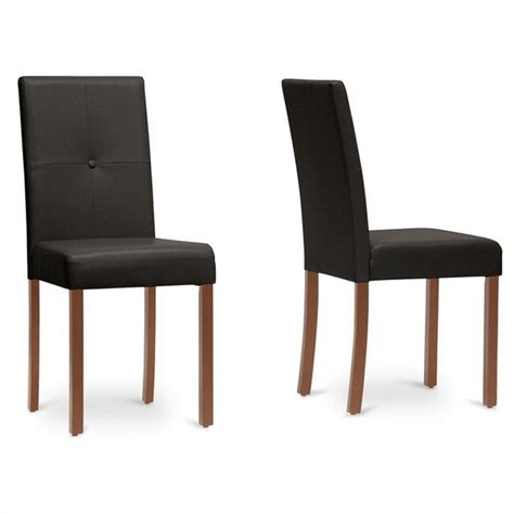 baxton studio curtis dining chair in brown set of 2