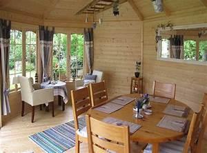 Esstisch Helles Holz : 3 inspirierende einrichtungsideen f r ihr gartenhaus ~ Markanthonyermac.com Haus und Dekorationen