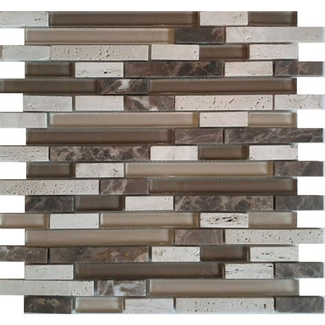 avenzo 12 in x 12 in avenzo mosaic beige mixed material wall tile lowe s canada