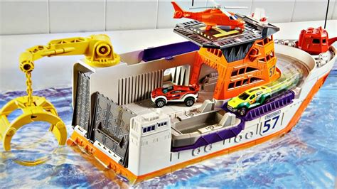 Toy Ships And Boats by Marine Rescue Shark Ship Mission Matchbox Bfn57 Md