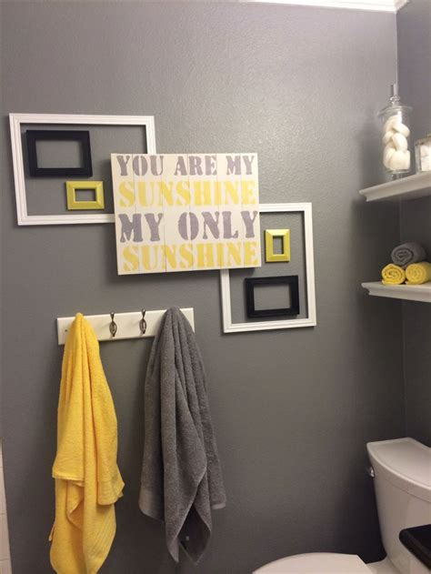 17 best ideas about grey yellow bathrooms on