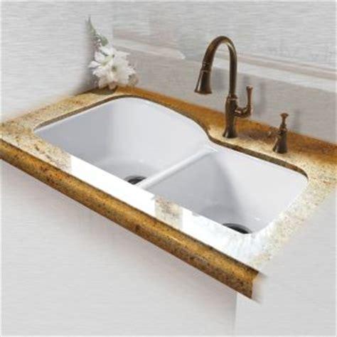 miseno mci68 4um 20 white 33 quot basin undermount cast iron kitchen sink faucetdirect
