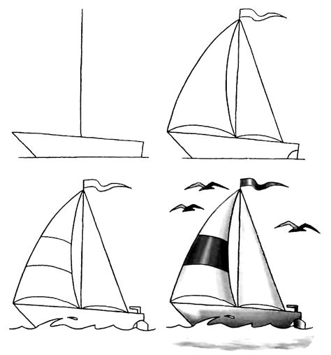How To Draw A Cartoon Boat Step By Step by Easy Cartoon Boats Wiring Diagram And Fuse Box