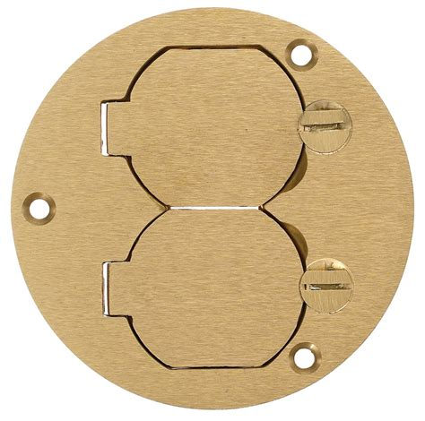 hubbell s3925 floor box cover brass crescent