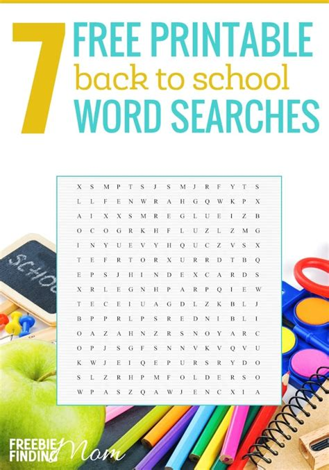 7 Free Printable Back To School Word Searches