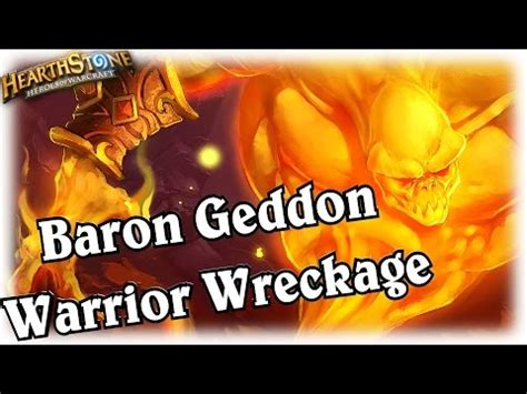 baron geddon warrior wreckage hearthstone heroes of warcraft blackrock mountain