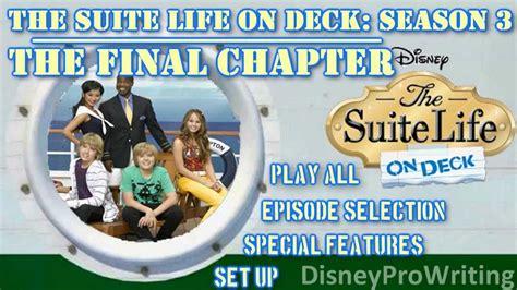 the suite on deck season 3 the chapter ii dvd menu fan made
