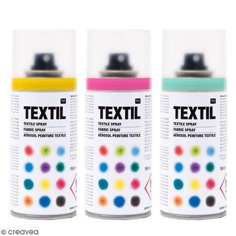 peintures en bombe pour tissus 150 ml peinture textile spray creavea