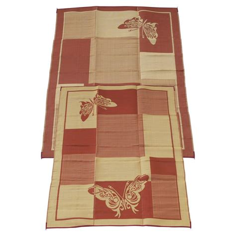 fireside patio mats butterfly burgundy and coral 9
