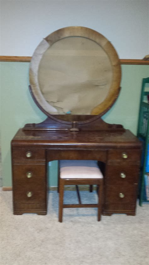 waterfall dresser vanity set value my antique furniture collection