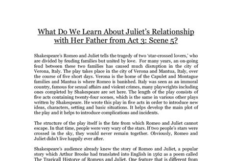 What Do We Learn About Juliet's Relationship With Her