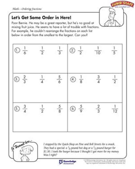 Let's Get Some Order In Here  Fractions Worksheets For Kids Jumpstart