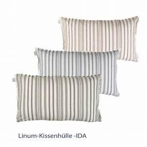 Kissenbezüge 40x60 Günstig : linum deko kissenh lle ida gestreist 40 x 60 cm 5384 ~ Markanthonyermac.com Haus und Dekorationen