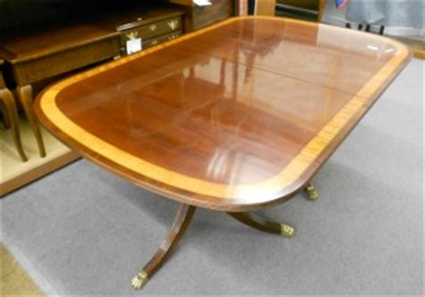 ethan allen inlaid banded dining room table just arrived baltimore maryland furniture store