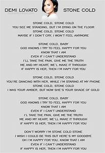 Stone Cold..makes me think most of my infertility struggle ...